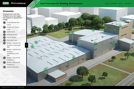 Screenshot from the MSA Building & Maintenance interactive model